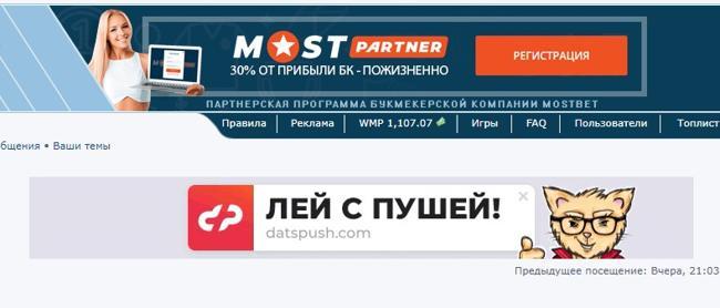 Баннерная реклама на форуме