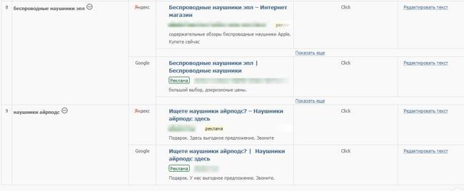 Авто создание объявлений в Click.ru
