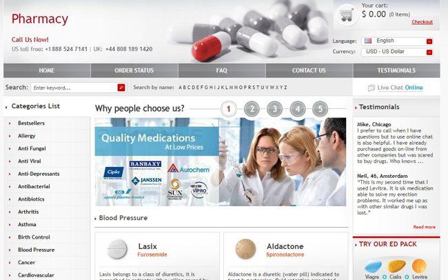 Готовая онлайн-аптека