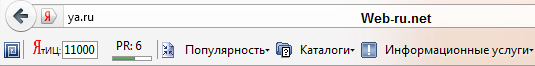 Панель Page Promoter Bar Firefox
