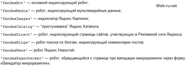 Роботы Яндекса