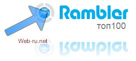 добавить сайт в каталог Рамблер Топ 100 и установить счётчик Рамблер