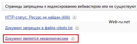 Яндекс и канонические документы