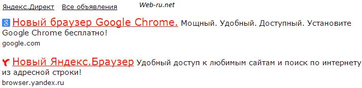 Конкуренты в Яндекс.Директ