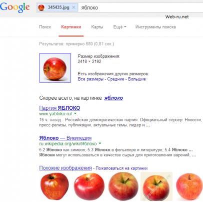 google images - выдача по картинке