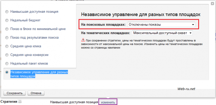 стратегия показа в Яндекс.Директ