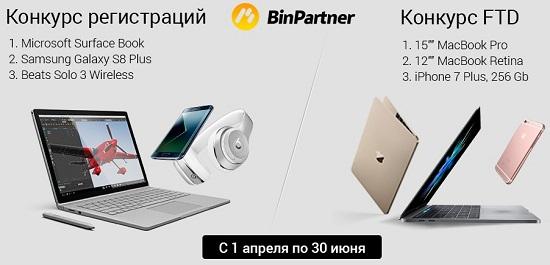 Конкурс депозитов от Binpartner.com 2017