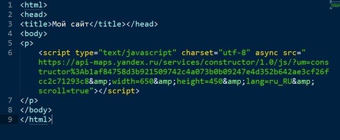 добавляем на сайт html