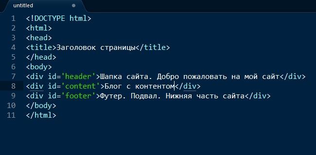 сайт на HTML
